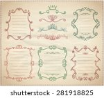 vintage classical dividers and... | Shutterstock .eps vector #281918825