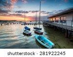 Boats At High Tide At Sandbank...