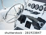 Sailing Yacht Control Wheel And ...