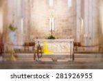Church Interior Blur Backgroun...