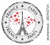 Paris Town In France Grunge...