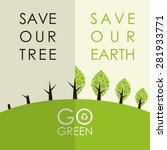 go green campaign poster | Shutterstock .eps vector #281933771