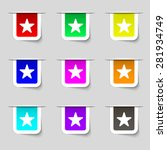 favorite star icon sign. set of ...