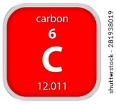 carbon material on the periodic ...   Shutterstock . vector #281938019