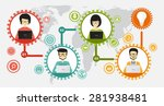 teamwork and coworking... | Shutterstock .eps vector #281938481