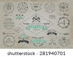 set of vintageframes and labels.... | Shutterstock .eps vector #281940701