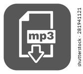 the mp3 icon. file audio format ... | Shutterstock .eps vector #281941121