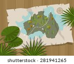 jungle map australia treasure...   Shutterstock .eps vector #281941265
