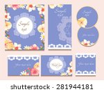 set of cards or invitation... | Shutterstock .eps vector #281944181