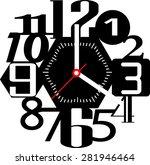 creative clock design | Shutterstock .eps vector #281946464