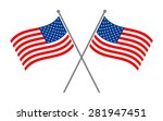 symmetrical crossed american... | Shutterstock .eps vector #281947451