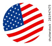 american flag vector icon | Shutterstock .eps vector #281947475