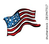 american flag vector icon | Shutterstock .eps vector #281947517