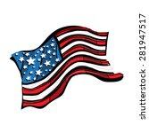 american flag vector icon   Shutterstock .eps vector #281947517