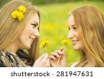 two pretty girls with...   Shutterstock . vector #281947631