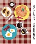 breakfast. breakfast at home.... | Shutterstock .eps vector #281949731