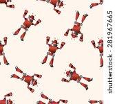 robot   cartoon seamless... | Shutterstock .eps vector #281967665
