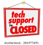 tech support is closed words on ... | Shutterstock . vector #281977691