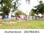 blurred photo of people... | Shutterstock . vector #281986301