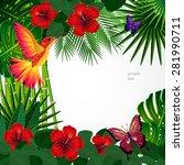 tropical floral design... | Shutterstock .eps vector #281990711