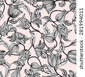 floral beautiful seamless... | Shutterstock .eps vector #281994011