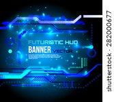 futuristic banner  technology...   Shutterstock .eps vector #282000677