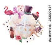 Watercolor Wonderland Thank Yo...