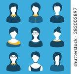 illustration set female... | Shutterstock . vector #282002897