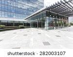 empty road nearby office... | Shutterstock . vector #282003107