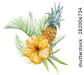Tropical Watercolor...