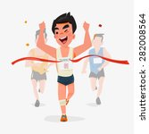 finishing runner character... | Shutterstock .eps vector #282008564