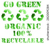 Green Eco Poster  Recycle Logo...