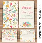 floral vector card templates.... | Shutterstock .eps vector #282009611