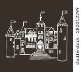 hand paint castle isolated on... | Shutterstock .eps vector #282012299