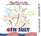 fourth of july with firework... | Shutterstock .eps vector #282014879