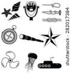 nautical elements ii icons... | Shutterstock .eps vector #282017384