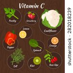 Infographic Set Of Vitamin C...