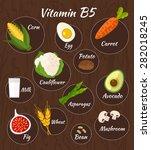 infographic set of vitamin b5... | Shutterstock .eps vector #282018245