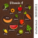 infographic set of vitamin a... | Shutterstock .eps vector #282018311