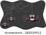 funny spider cartoon | Shutterstock . vector #282019511