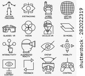 set of vector linear icons of...