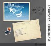 Old Postcard Design  Template....