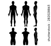 male mannequin outlined... | Shutterstock .eps vector #282028865