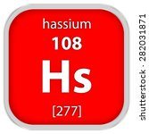 hassium material on the... | Shutterstock . vector #282031871