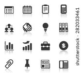 vector seo and internet icons... | Shutterstock .eps vector #282033461