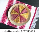 delicious colorful baked... | Shutterstock . vector #282038699