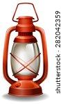 Close Up Oil Lamp In Classic...