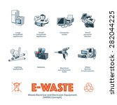 the e waste electrical and... | Shutterstock .eps vector #282044225