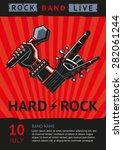 hard rock. design template for... | Shutterstock .eps vector #282061244