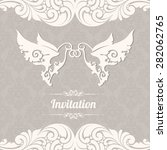 wedding invitation greeting... | Shutterstock .eps vector #282062765